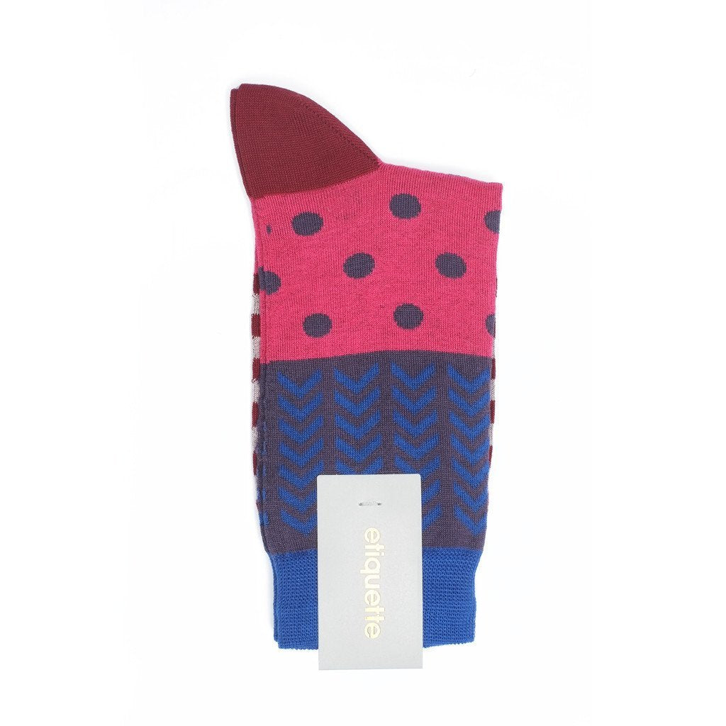 Womens Socks - Mixed Up - Pink⎪Etiquette Clothiers