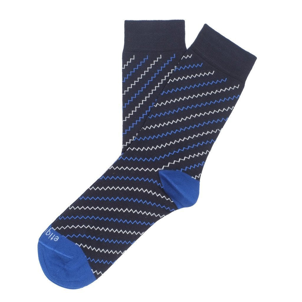 Womens Socks - Step It Up Women's Socks - Dark Blue⎪Etiquette Clothiers