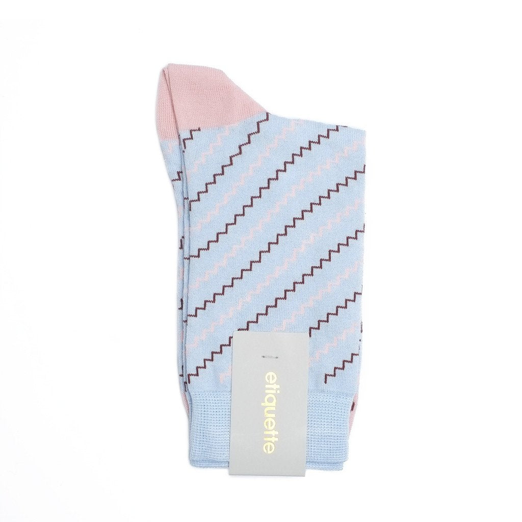 Womens Socks - Step It Up Women's Socks - Light Blue⎪Etiquette Clothiers