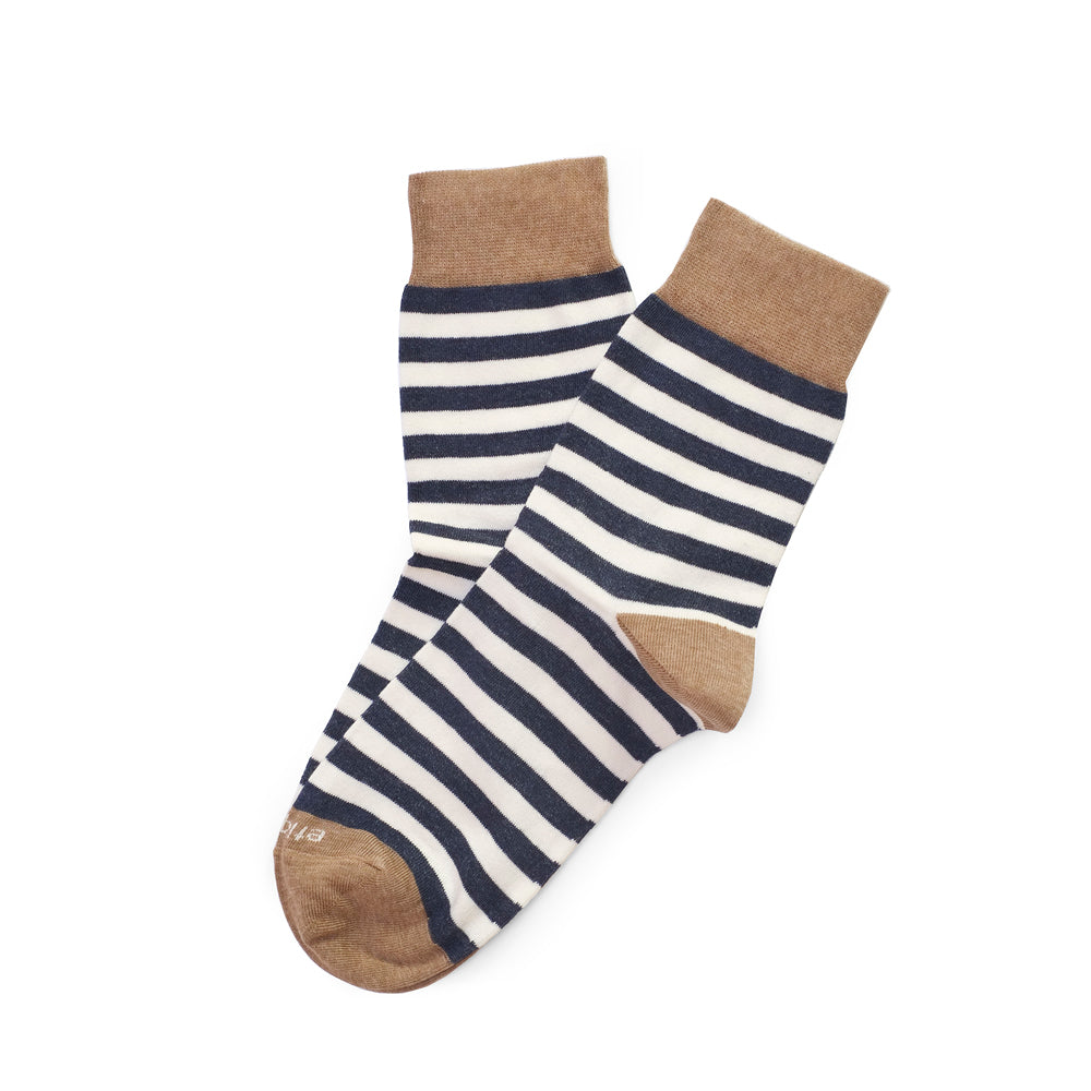 Womens Socks - Abbey Stripes Women's Socks - Blue⎪Etiquette Clothiers