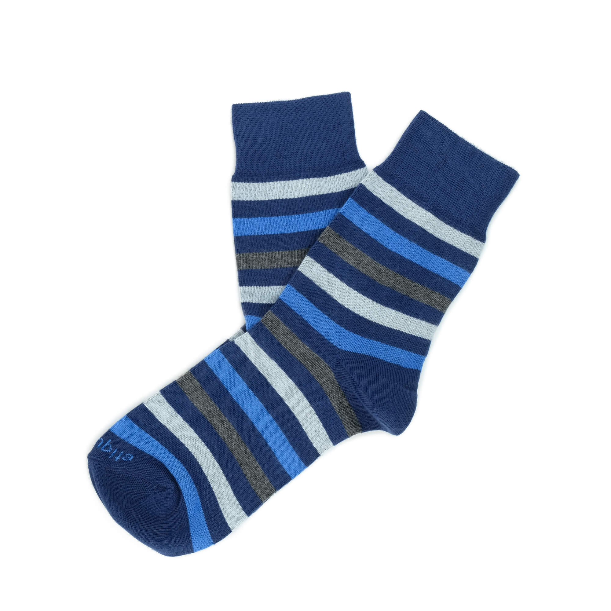 Womens Socks - Crosswalk Stripes Women's Socks - Blue⎪Etiquette Clothiers