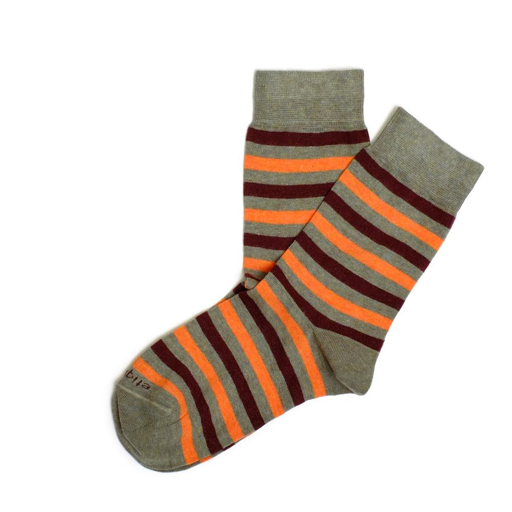 Womens Socks - Crosswalk Stripes Women's Socks - Green⎪Etiquette Clothiers