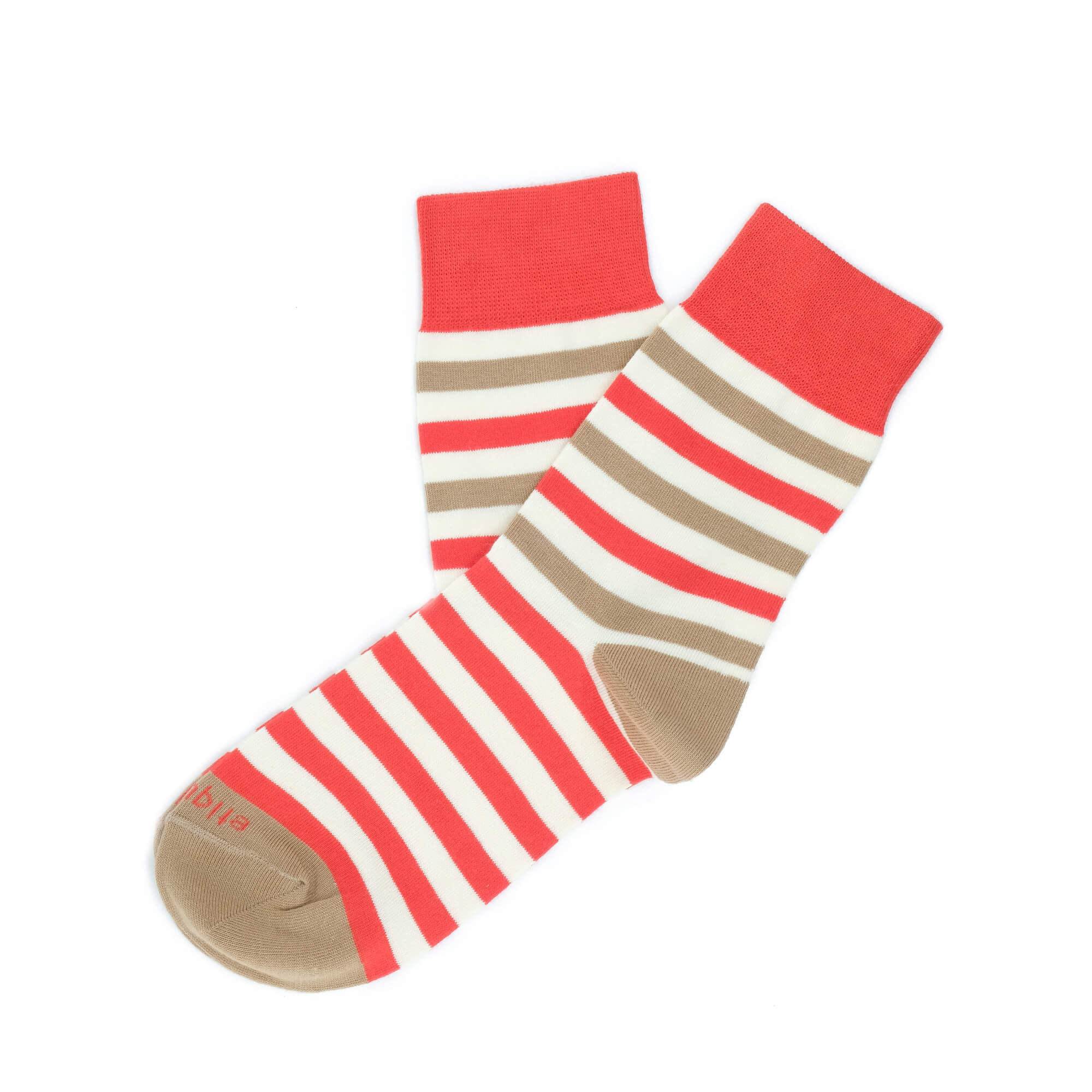 Womens Socks - Crosswalk Stripes Women's Socks - Red⎪Etiquette Clothiers