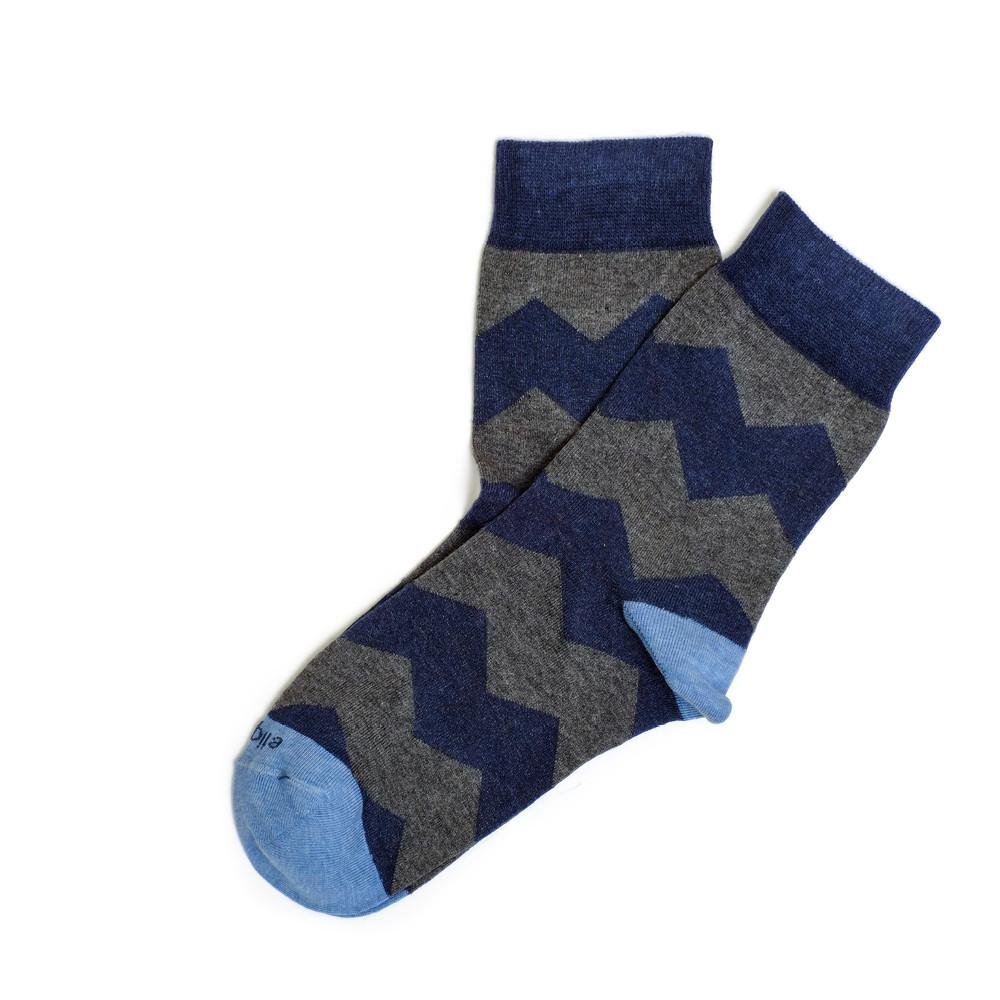 Womens Socks - Everest Stripes - Dark Blue⎪Etiquette Clothiers