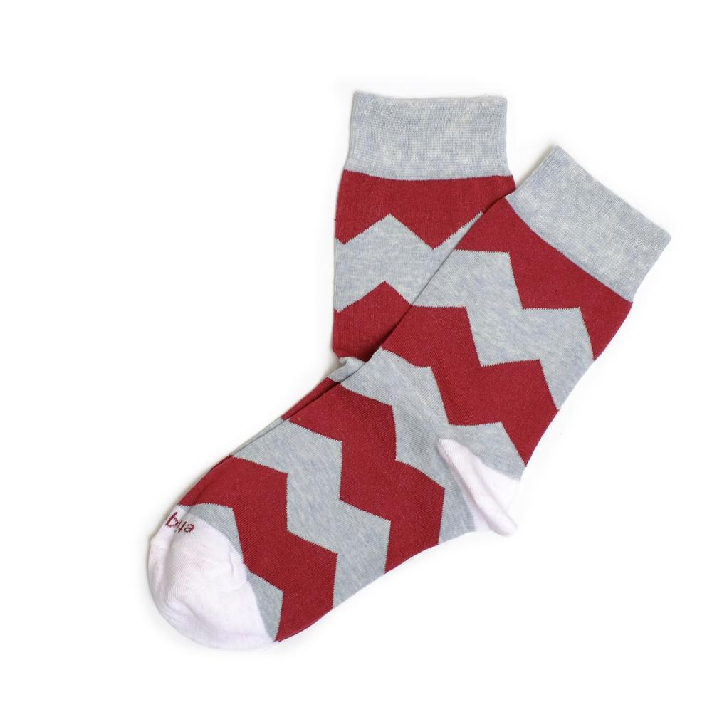 Womens Socks - Everest Stripes - Bordeaux⎪Etiquette Clothiers