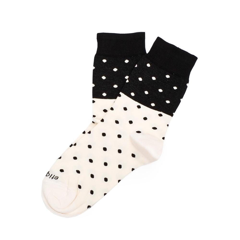 Womens Socks - Mini Polka Women's Socks - Black⎪Etiquette Clothiers