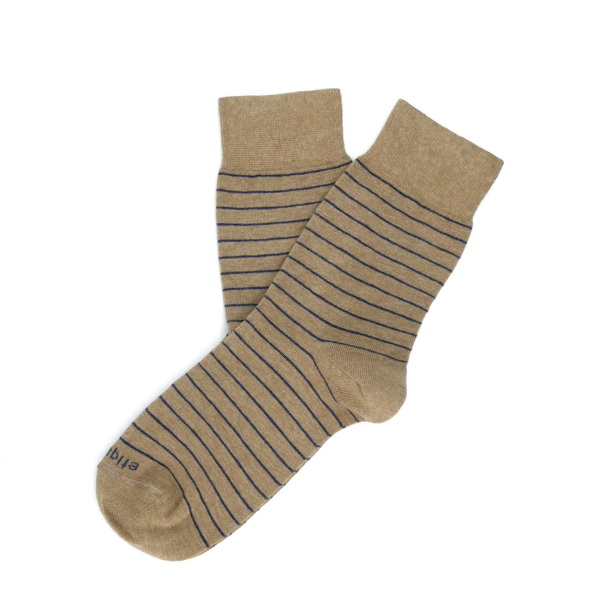 Womens Socks - Needle Stripes Women's Socks - Brown⎪Etiquette Clothiers
