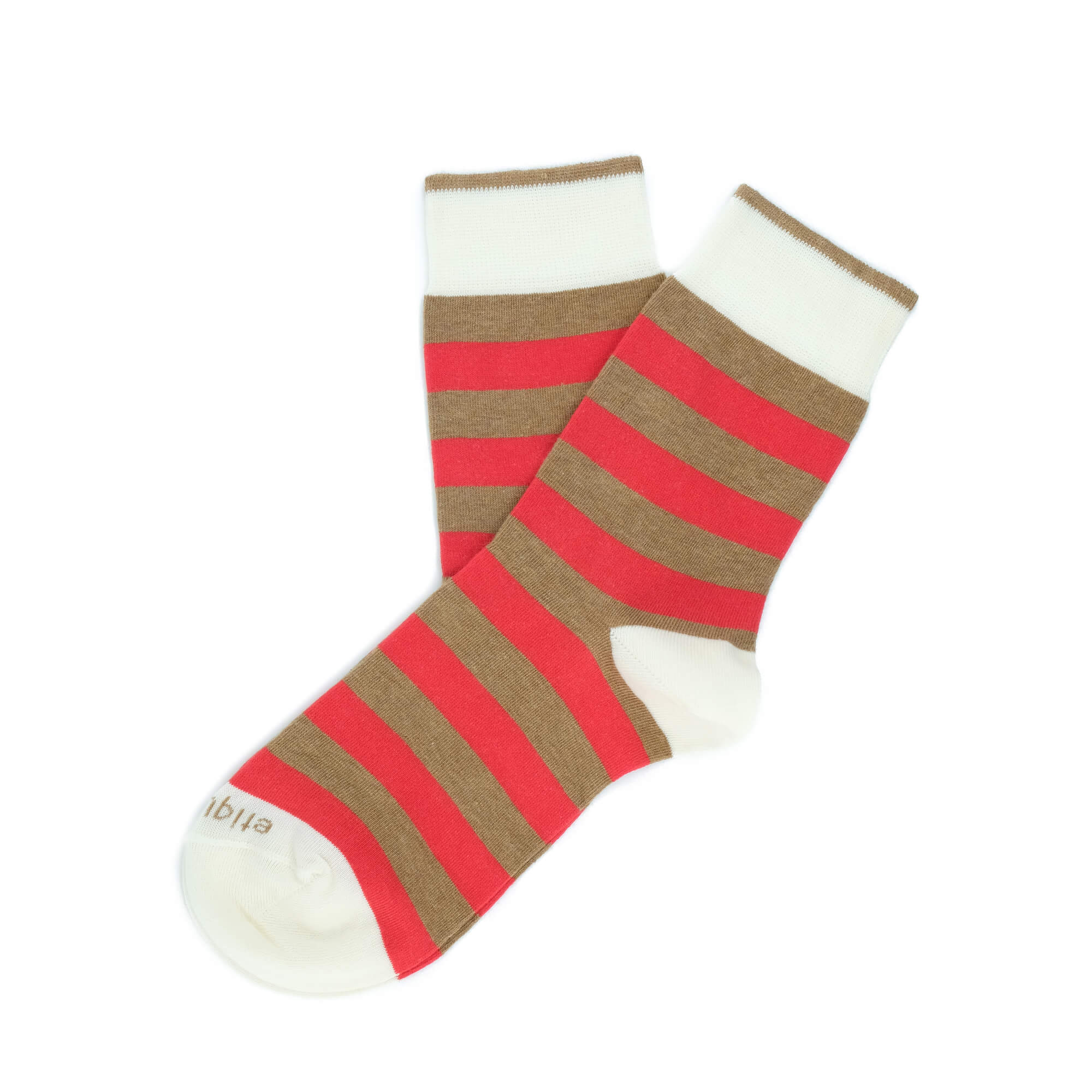 Womens Socks - Rugby Stripes Women's Socks - Brown⎪Etiquette Clothiers