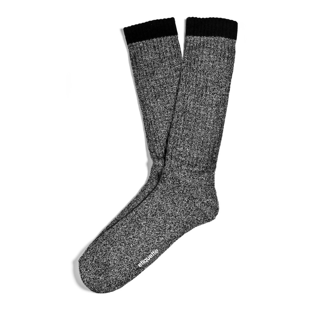 Womens Socks - Women's Boot Socks - Dark Grey⎪Etiquette Clothiers