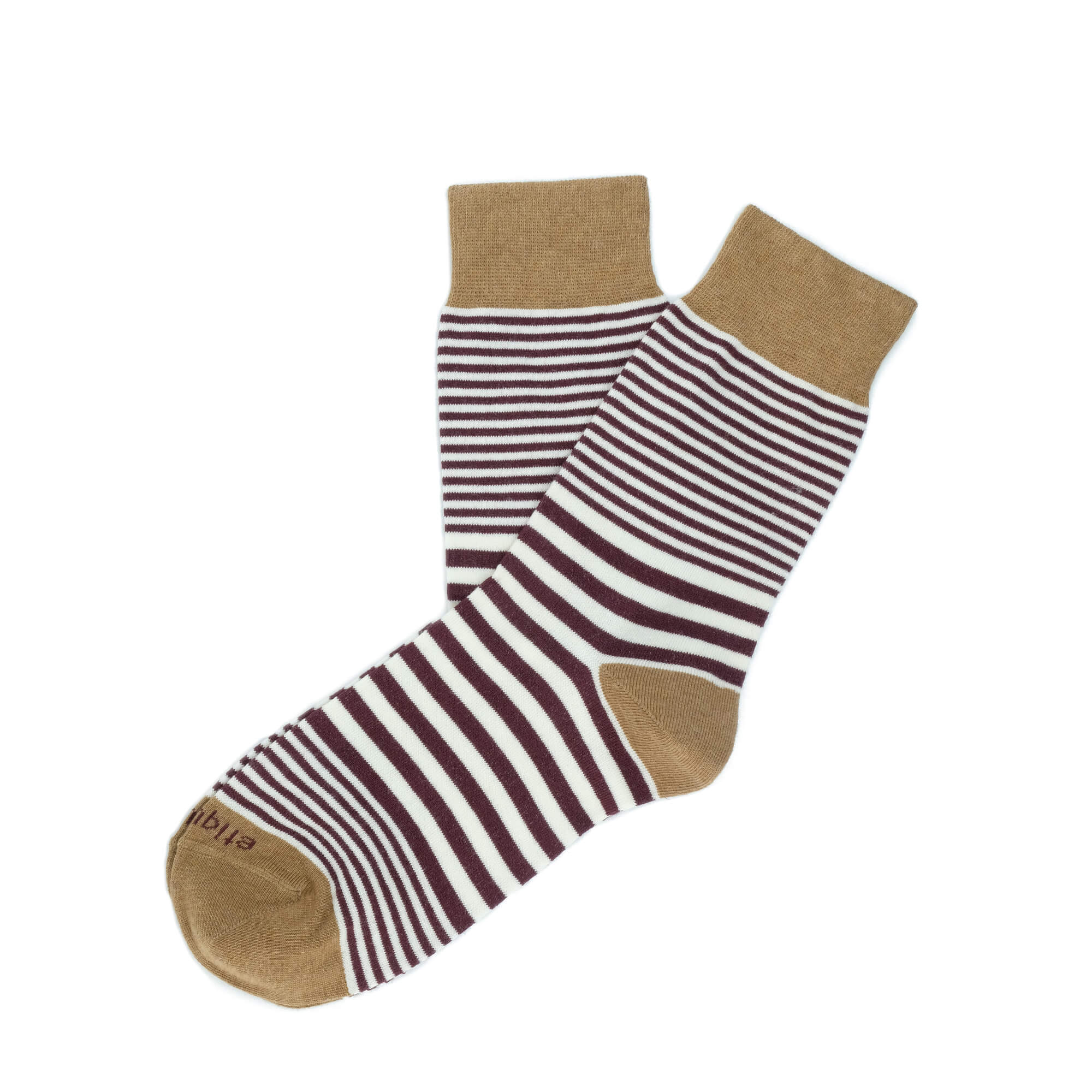 Womens Socks - Sailor Stripes Women's Socks - Bordeaux⎪Etiquette Clothiers
