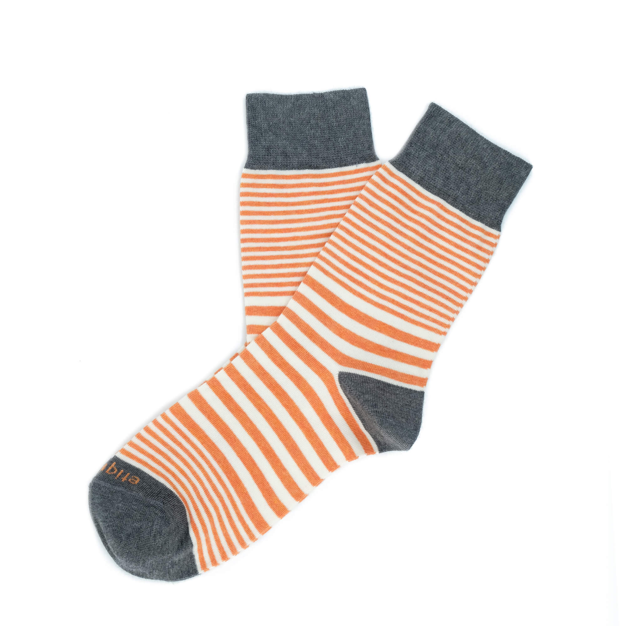 Womens Socks - Sailor Stripes Women's Socks - Orange⎪Etiquette Clothiers