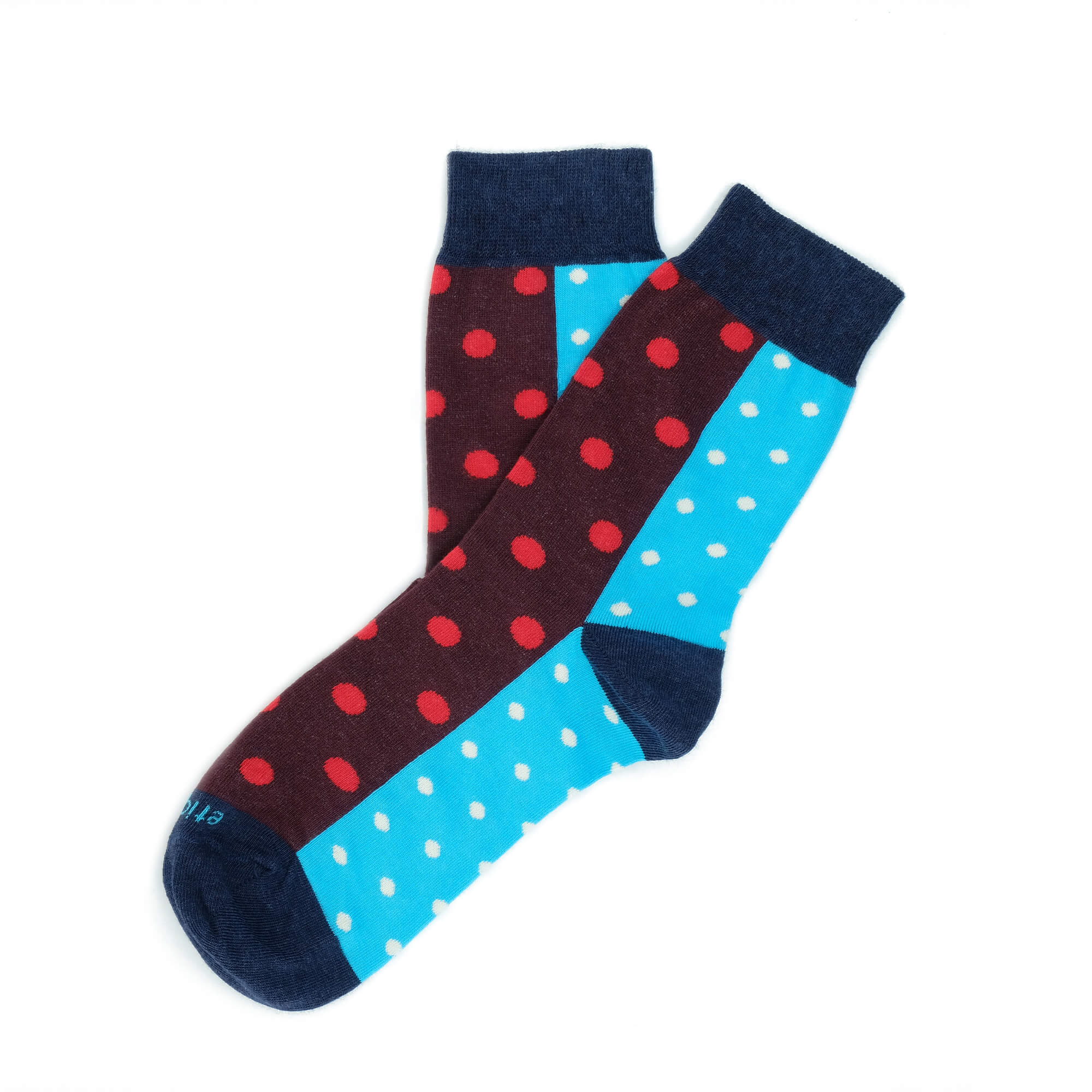 Womens Socks - Two Faced Women's Socks - Red/Cyaan⎪Etiquette Clothiers