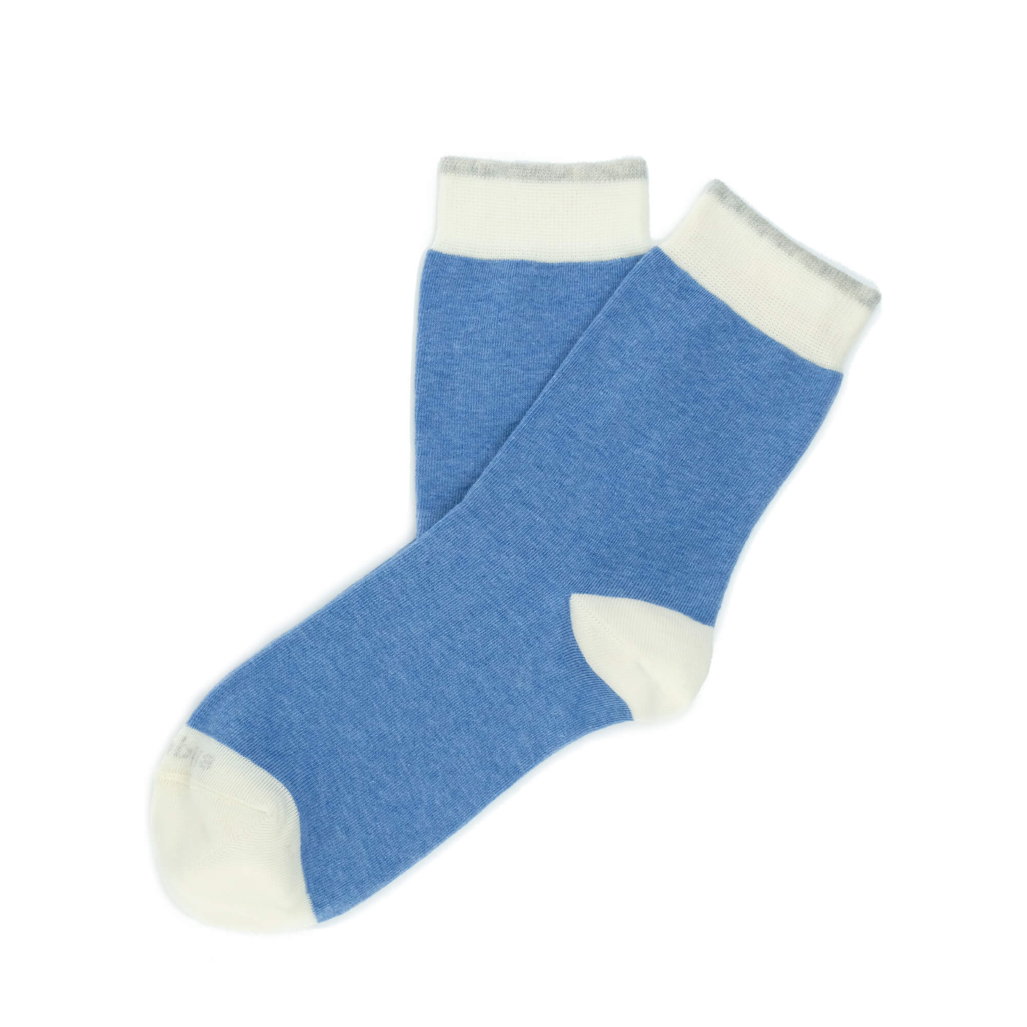 Womens Socks - Tri Pop Women's Socks - Light Blue⎪Etiquette Clothiers