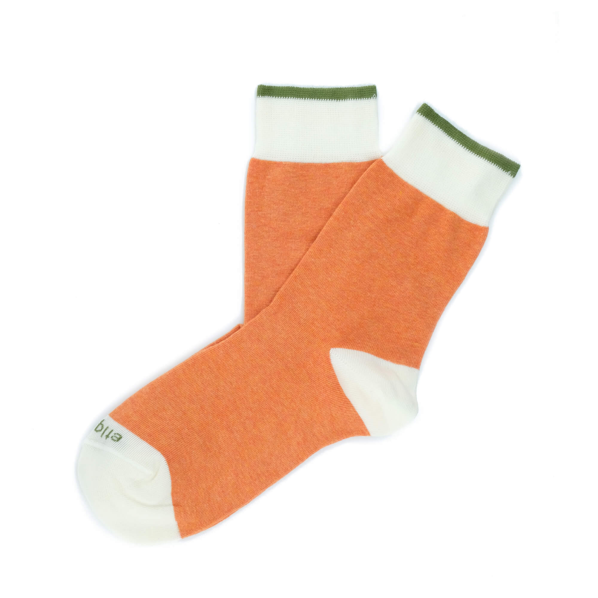 Womens Socks - Tri Pop Women's Socks - Orange⎪Etiquette Clothiers