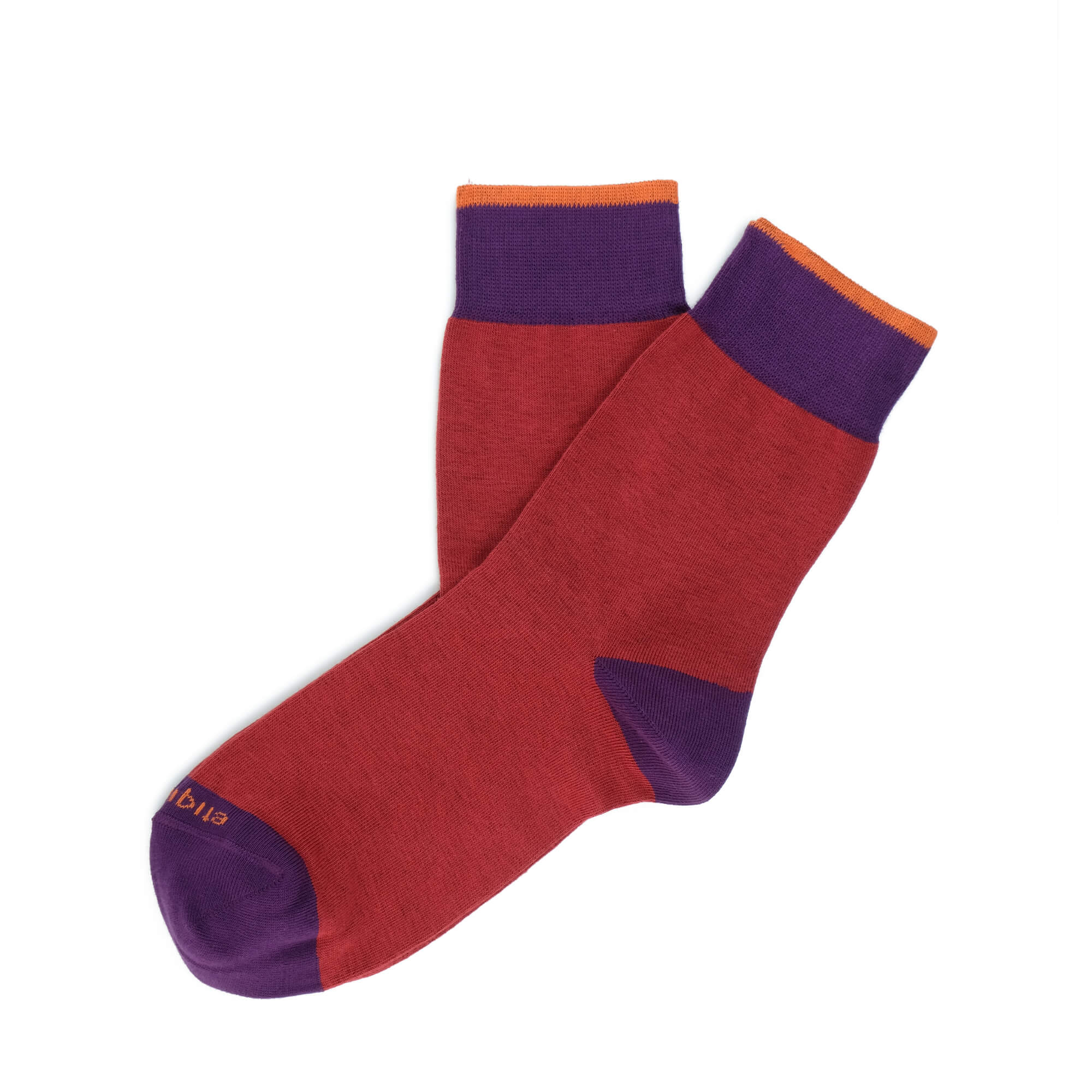 Womens Socks - Tri Pop Women's Socks - Red⎪Etiquette Clothiers
