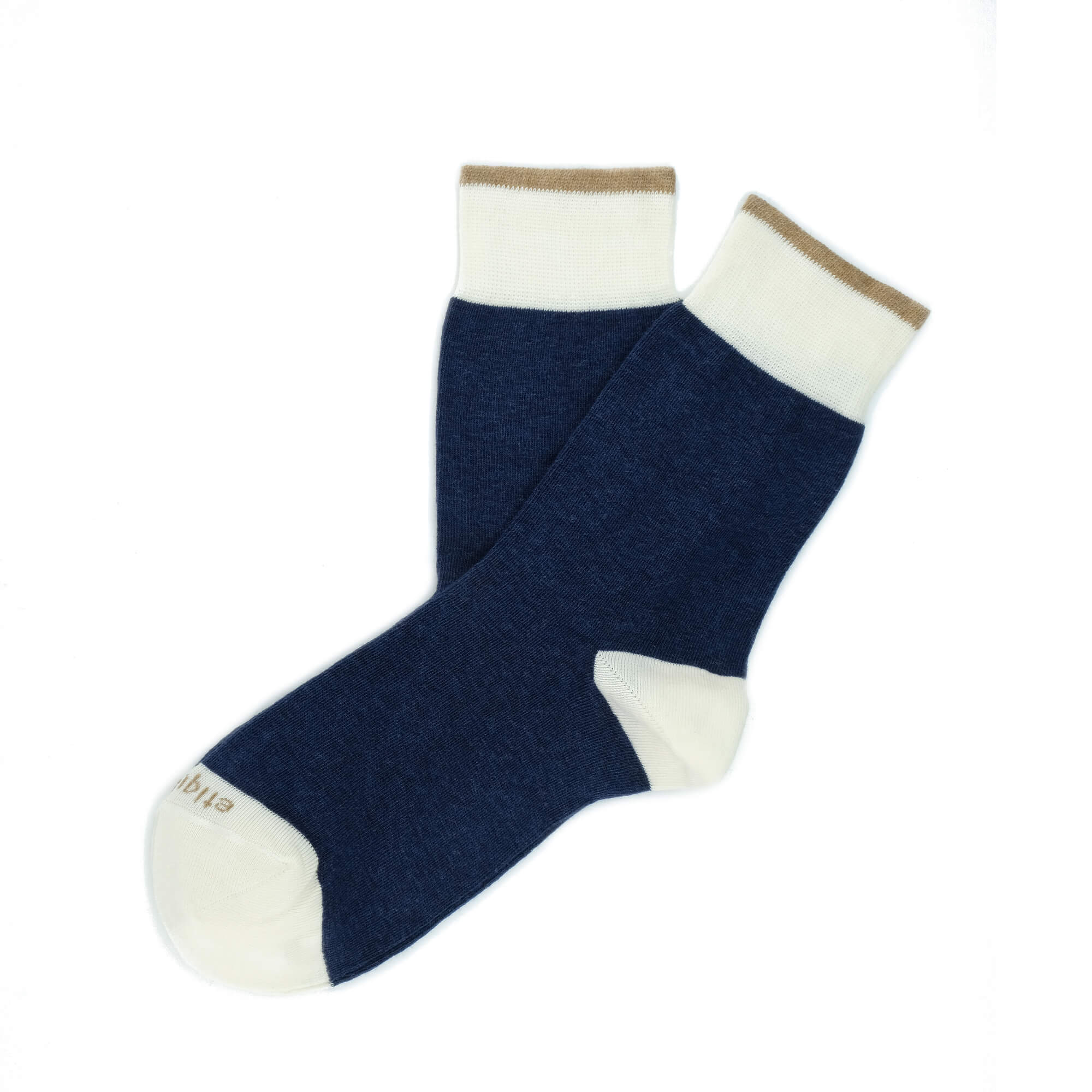 Womens Socks - Tri Pop Women's Socks - Navy⎪Etiquette Clothiers