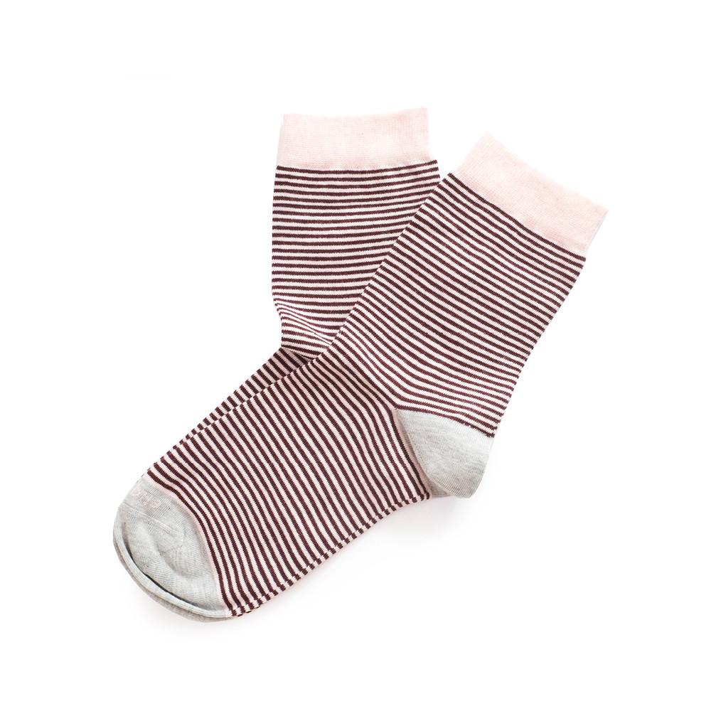 Womens Socks - Thousand Stripes Women's Socks - Pink⎪Etiquette Clothiers