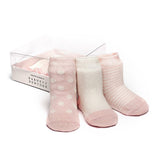 Baby Socks - Etiquette x Barneys Baby Girls Socks Bundle - Heather Pink and Ecru⎪Etiquette Clothiers