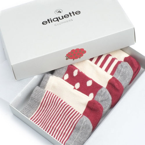 Cashmere Baby Socks Gift Box  - Alt view