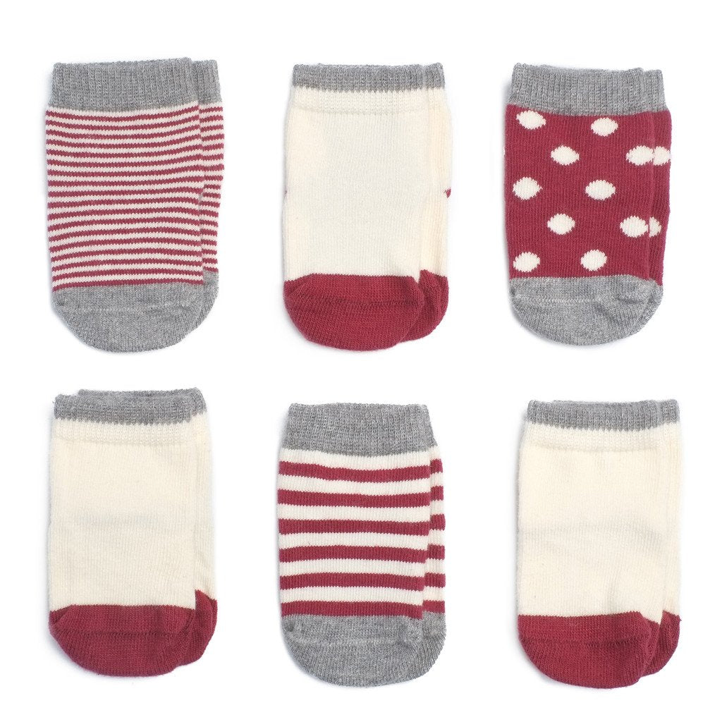 Baby Socks - Cashmere Baby Socks Gift Box - Vintage Red⎪Etiquette Clothiers