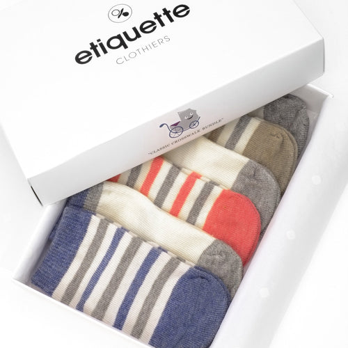 Classic Crosswalk Baby Socks Gift Box  - Alt view