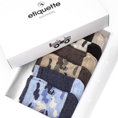 Camouflage Baby Boys Socks Gift Box  - Alt view