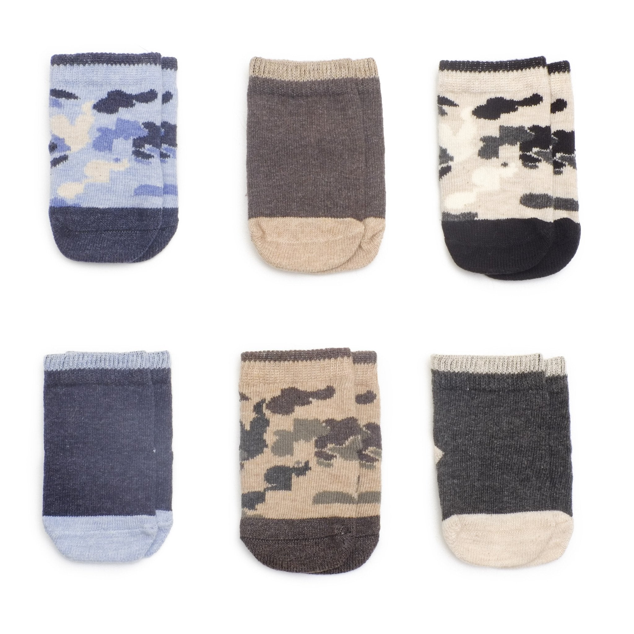 Baby Socks - Camouflage Baby Boys Socks Gift Box - Multi⎪Etiquette Clothiers