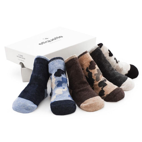 Camouflage Baby Boys Socks Gift Box