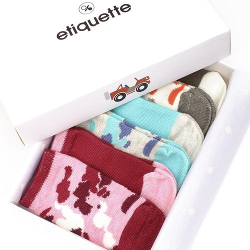 Camouflage Baby Girls Socks Gift Box  - Alt view