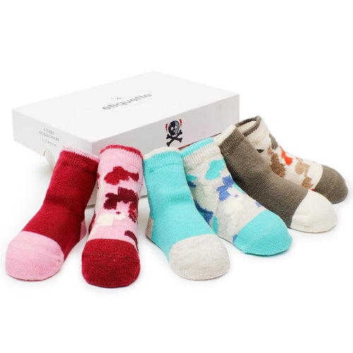 Camouflage Baby Girls Socks Gift Box