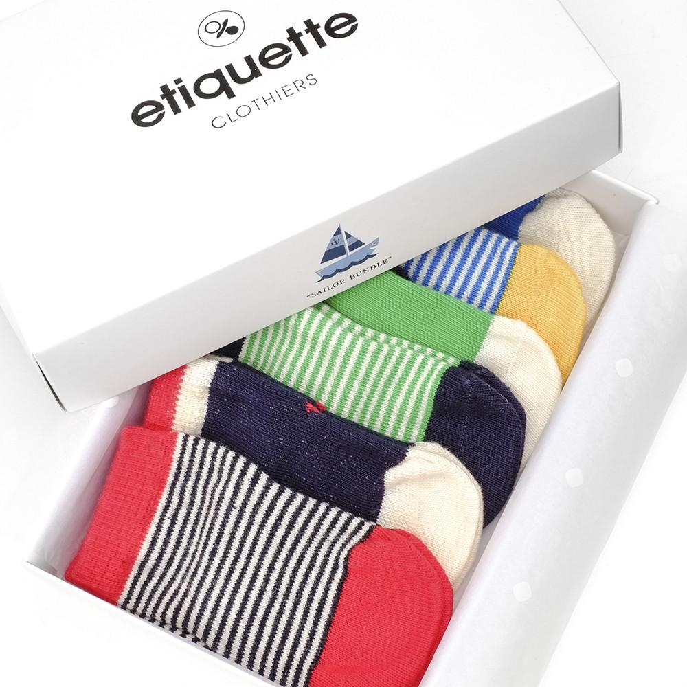 Baby Socks - Happy Sailor Boy - Multi⎪Etiquette Clothiers