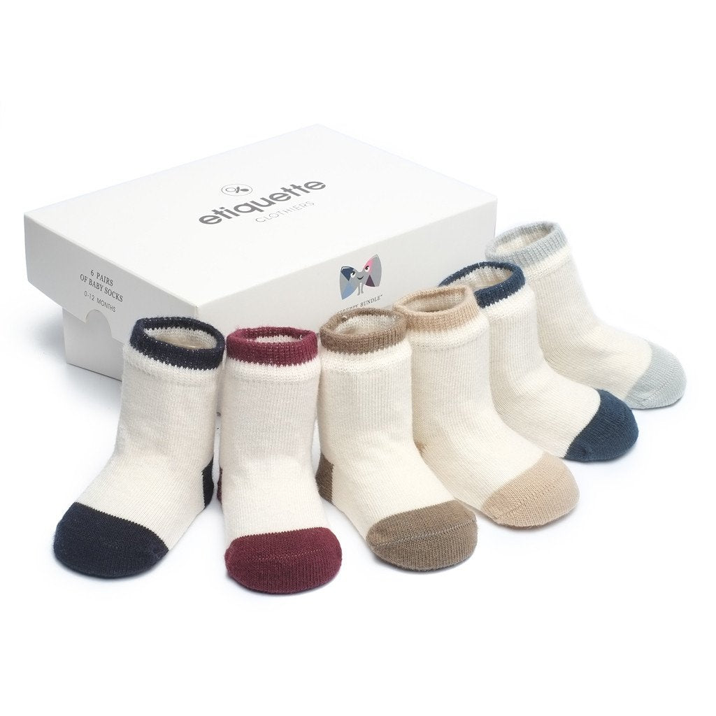 Baby Socks - Preppy Baby Socks Bundle - Ecru Multi⎪Etiquette Clothiers