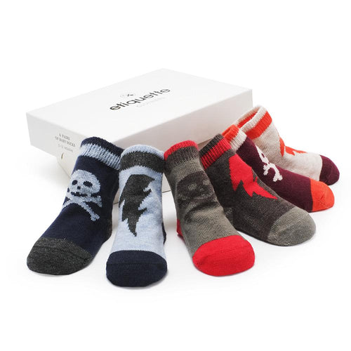 Super Villains Baby Boy Socks Gift Box