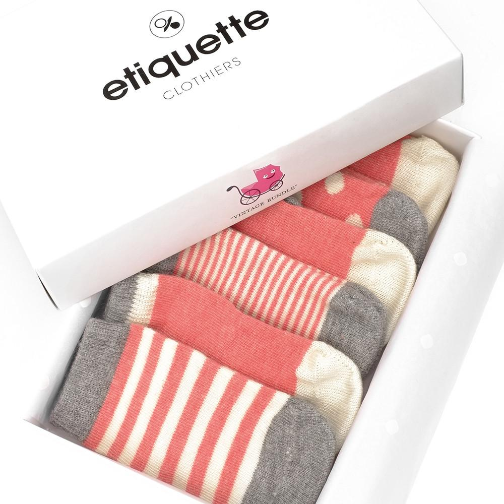 Baby Socks - Vintage - Heather Red⎪Etiquette Clothiers
