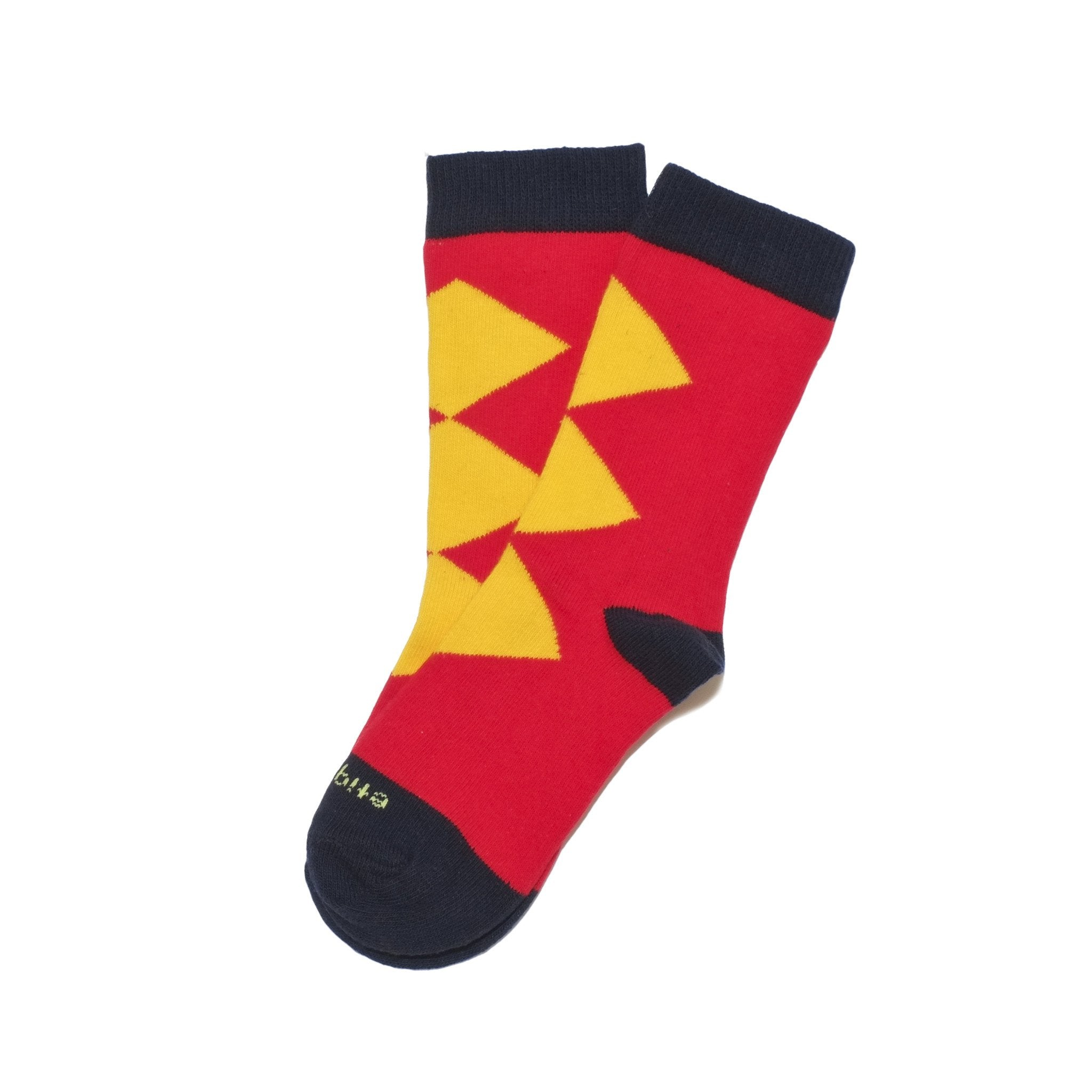 Kids Socks - Super Heroes - Fire Red⎪Etiquette Clothiers