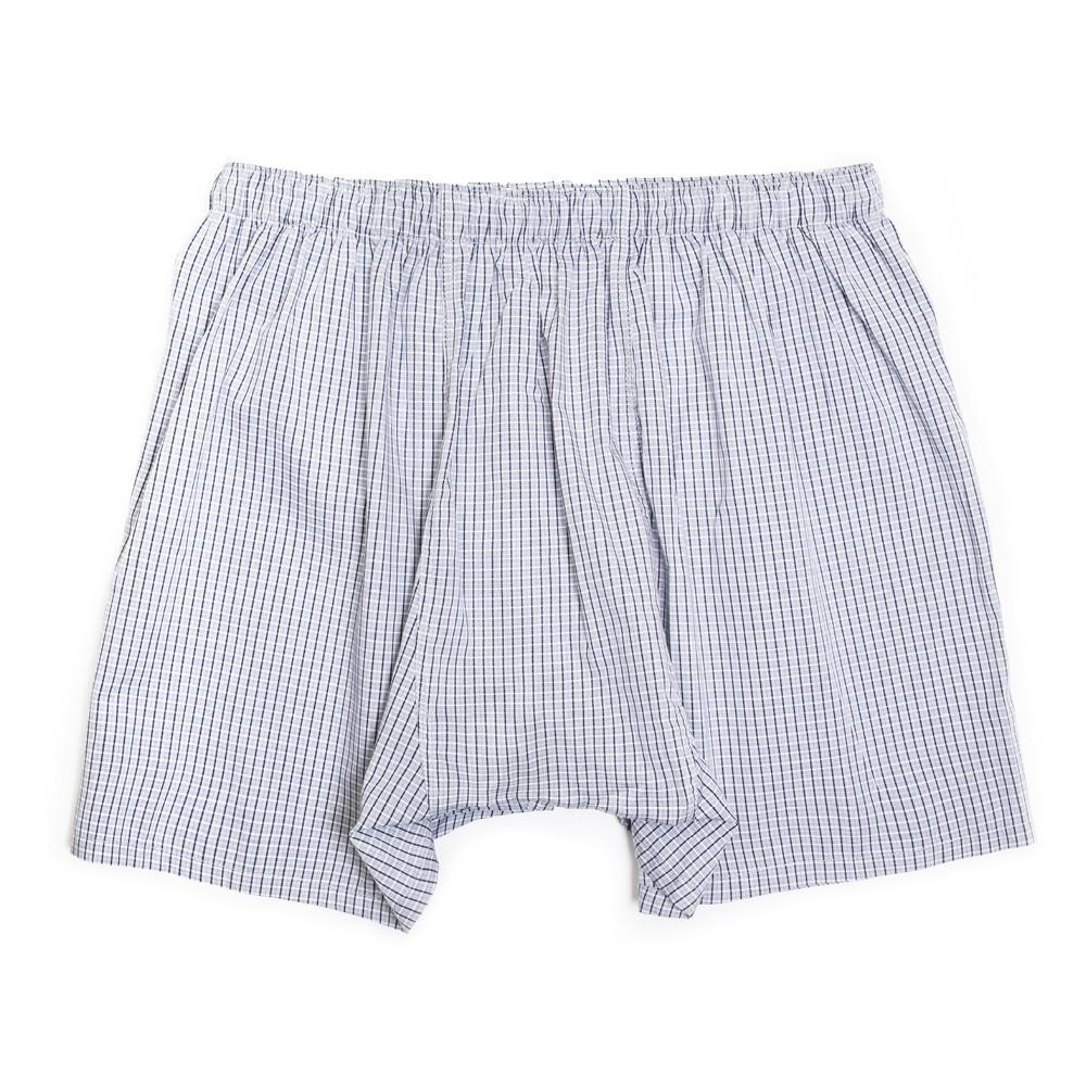Mens Underwear - Luxury Boxer Shorts Checker - Navy Grey⎪Etiquette Clothiers