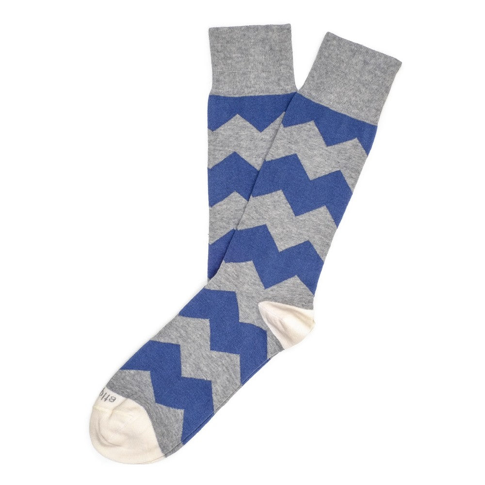 Mens Socks - Everest Stripes Men's Socks - Blue⎪Etiquette Clothiers