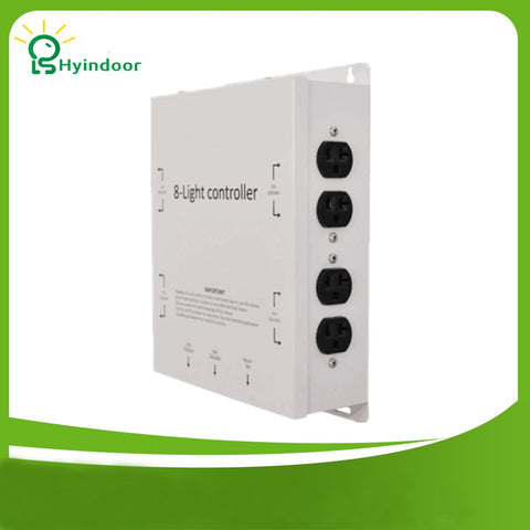 120V USA standard 8 Outlets Light Controller contactor / industrial grade light power timer box for hydroponic grow