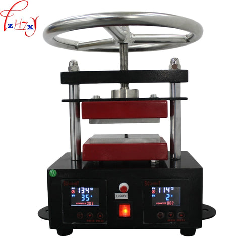High pressure upper plate hot stamping machine 6*12CM hand spin rosin press machine heat stamping machine 110/220V 1000W