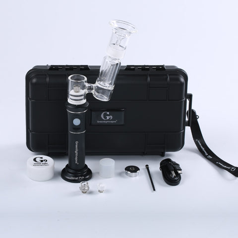 original Greenlightvapes G9 enail Henail Plus Portable Wax Pen Dab Rig 2500mAh Water Glass Tube Pipes Bubbler Dry Herb Vapor