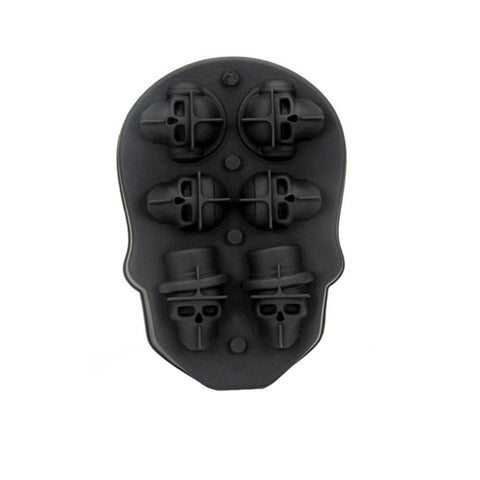 3D Silicone Skull Ice Cube Mold Maker Kitchen Cake Candy Mould Bar Party Cool Whiskey Wine Ice Cream Tools