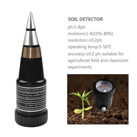 Soil Moisture Light Humidity PH Meter Garden Soil Tester Meter