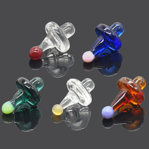 HORNET Premium Universal Solid Colored Glass UFO Carb Cap Dome for Glass Water Pipes 38MM Dab Oil Dab Rigs Quartz Banger Nails
