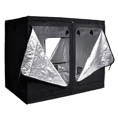 Promotion! Black Hydroponic Grow Room Indoor Dark Room Mylar Tent Size:240x120x200cm