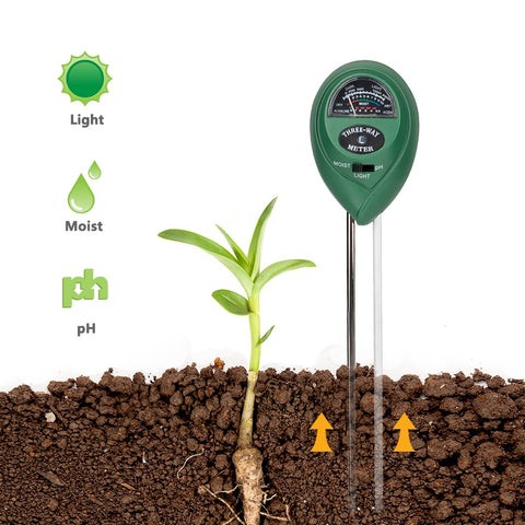3 in 1 PH Tester Plant Flower Soil Water Moisture Light Meter Hydroponics Analyzer Test Detector Garden Supplier