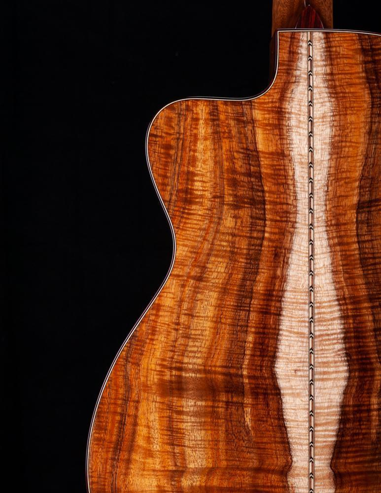 Dana Bourgeois and the OMSC 12 Fret in Master Grade Koa Available NOW!