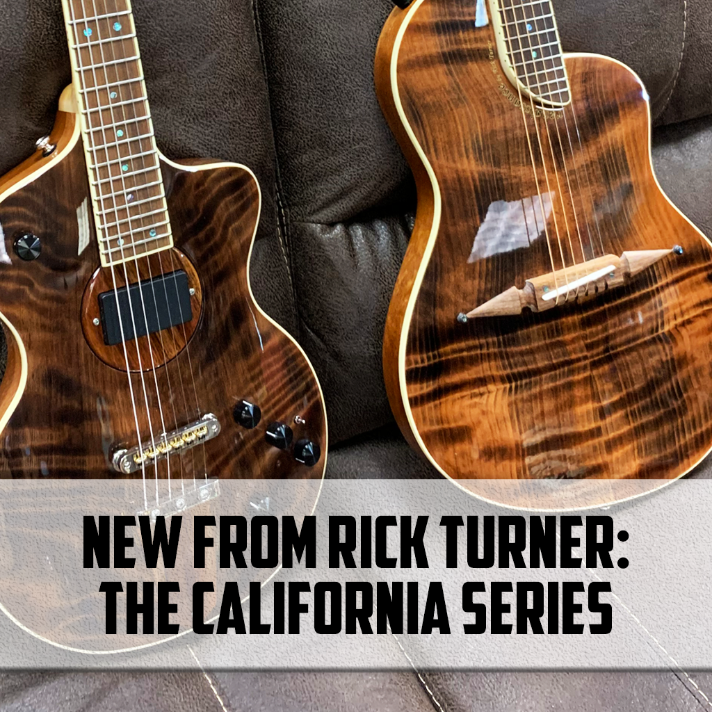 NEW from Rick Turner:  The California Series Model 1 & Renaissance Guitars
