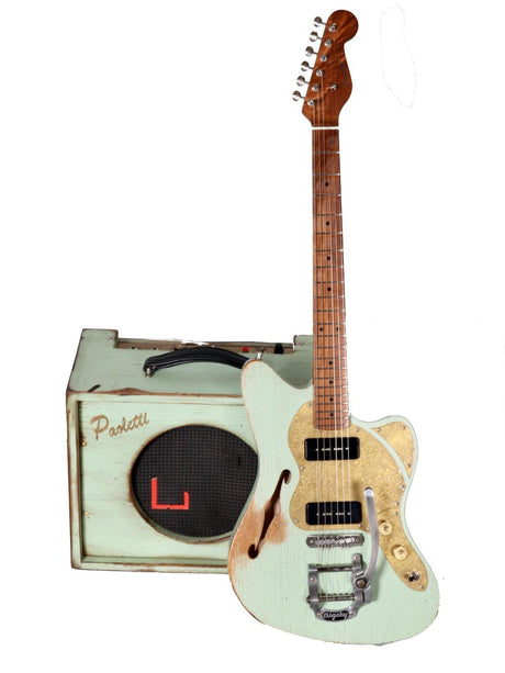 Paoletti Nancy 112 Lounge 2P90 Sage Green and Brutal 6W Combo Amp Bundle - Paoletti - Heartbreaker Guitars
