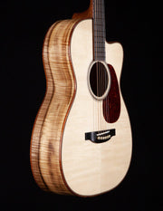Bourgeois OMSC Flamed Myrtle / Italian Spruce 12 Fret #8861 - Bourgeois Guitars - Heartbreaker Guitars
