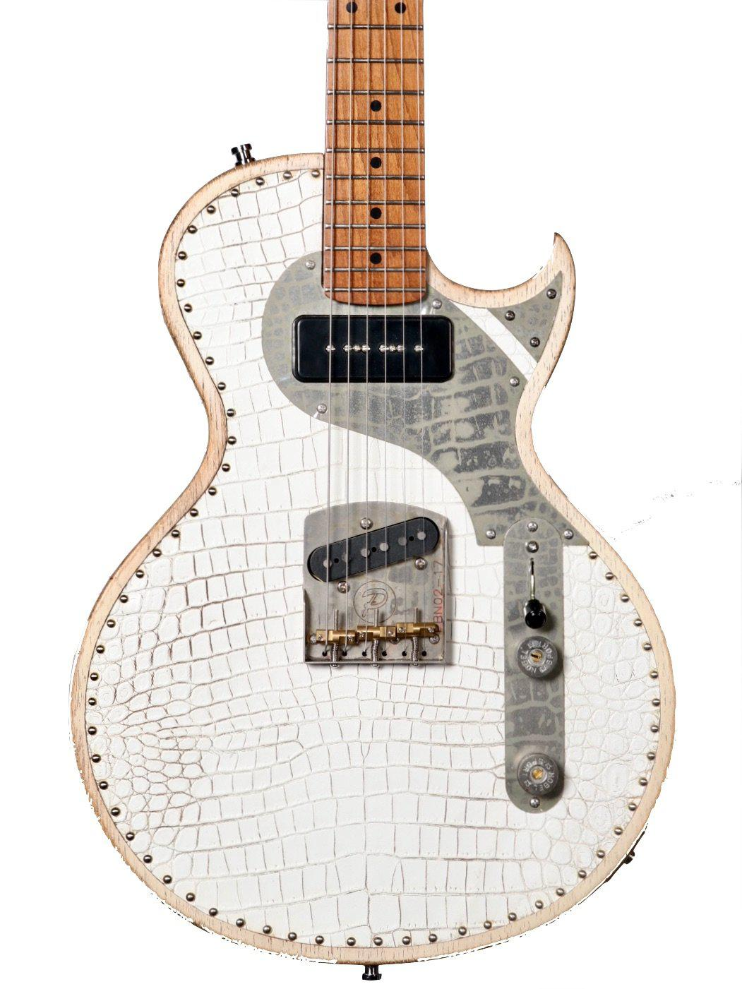 New White Richard Fortus Signature Custom Guitar Serial #77220 - Paoletti - Heartbreaker Guitars